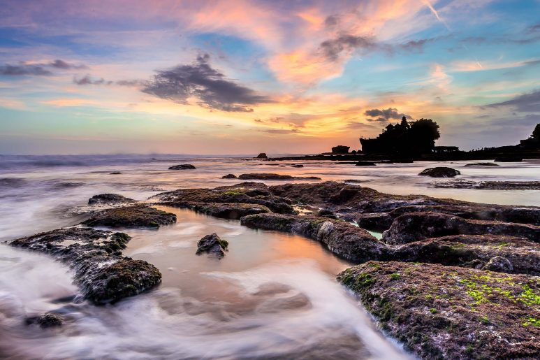 Sunset over Tanah Lot