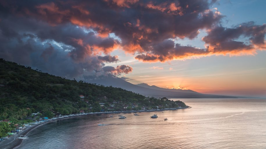 Sunset on Amed bay