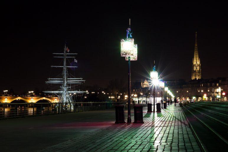 Quay by night