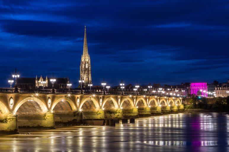 Blue hours bridge