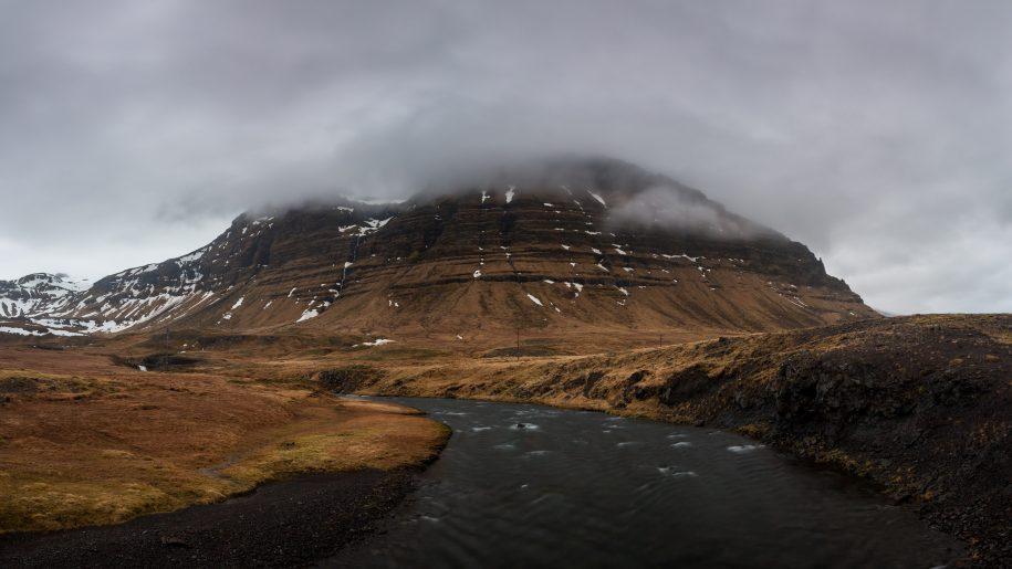 Mountain in fog