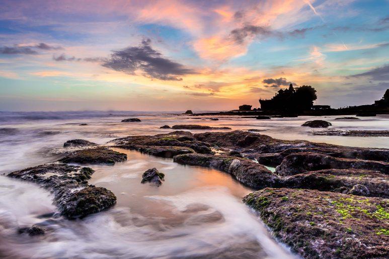 Sunset over Tanah Lot
