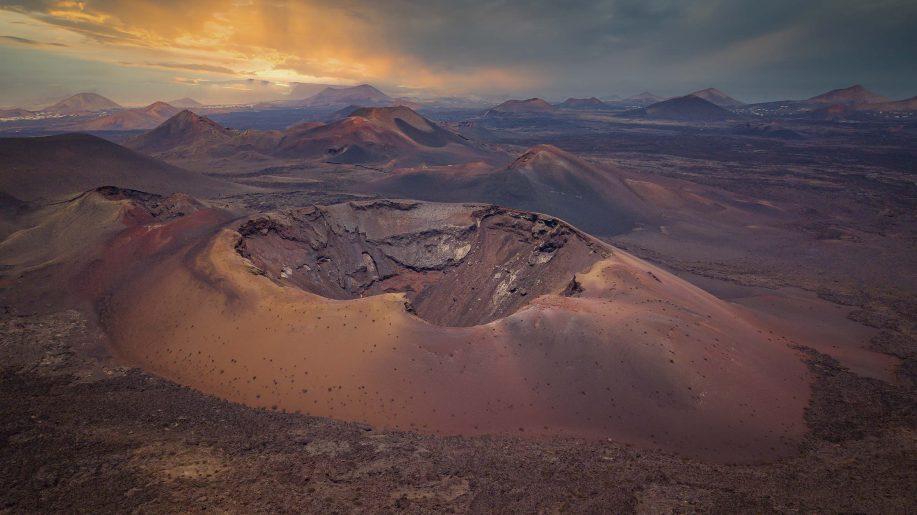 Golden volcano