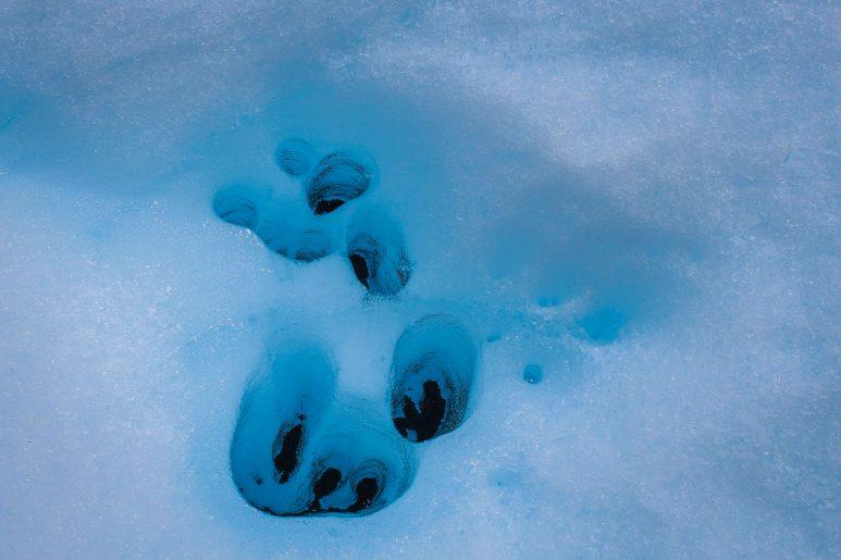 Ice footprints