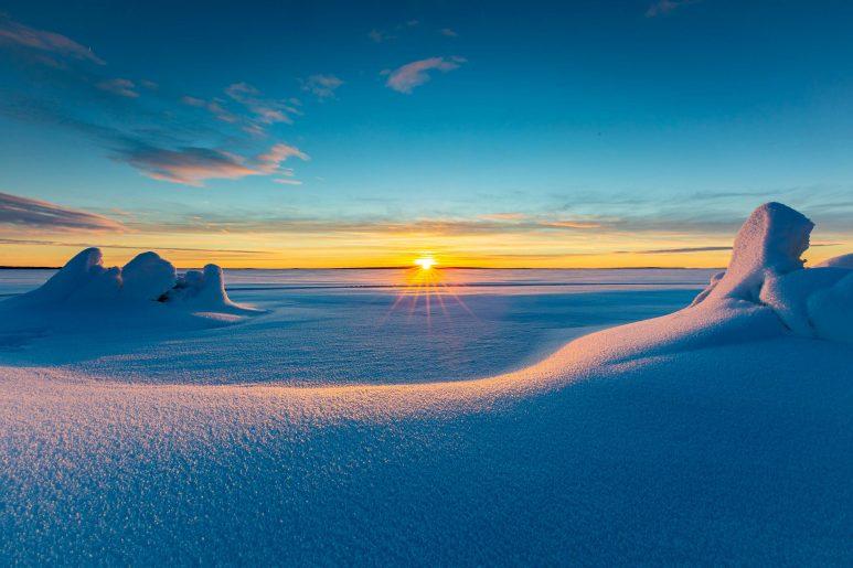 Frozen gulf